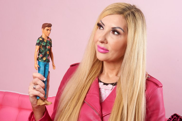 Pic by Caters News Agency - (Pictured: Rachel Evansfrom South East London has spent over 25,000 on surgery in 17-years in a bid to be the UKs oldest Barbie, aged 47. Pic taken 08/03/2018) - A mum-of-one who has spent over 25,000 on plastic surgery to become the UKs oldest Barbie still cant find her Ken. Rachel Evans has spent over 25,000 on surgery in 17-years in a bid to be the UKs oldest Barbie, aged 47. However, despite her best efforts to look like the doll, Rachel explains that she still hasnt been able to find her Ken. SEE CATERS COPY